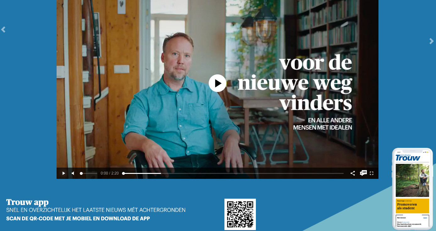 Podcasts en Docu's op de Trouw app
